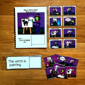 "Halloween Sentence Builder Book:  ""What Is Witchy Doing?"""