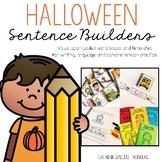 Halloween Sentence Builders