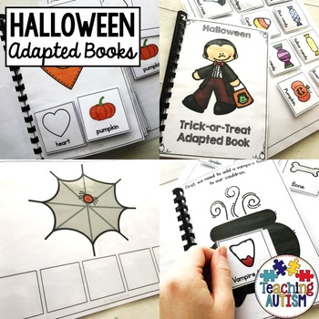 Halloween Sentence Building Pack, Adapted Books