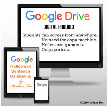 Halloween Sentence Combining Google Drive Digital Resource