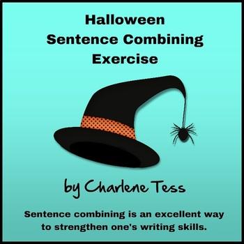 Halloween Sentence Combining Google Drive Digital Resource #TpTDigital