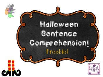 Halloween Sentence Comprehension