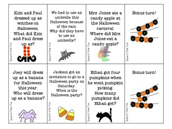 Halloween Sentence Comprehension