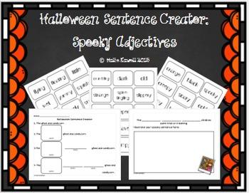 Halloween Sentence Creator: Spooky Adjectives