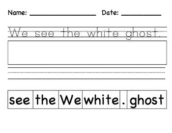 Halloween Sentence Cut-Outs