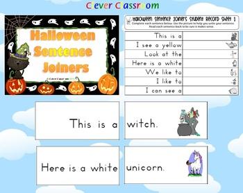 Halloween Center Activity Sentence Joiners
