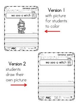 Halloween Sentence Patrol: Sentence Editing and Handwriting Practice