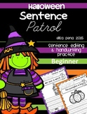 Halloween Sentence Patrol: Sentence Editing and Handwriting Practice
