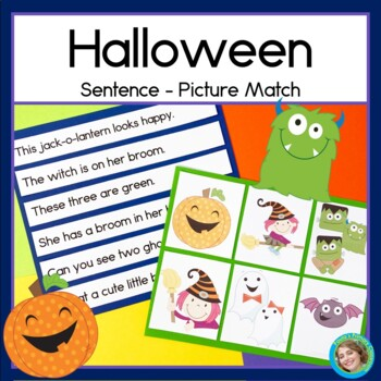 Halloween Sentence Picture Match Reading Center