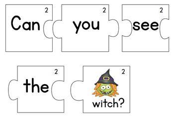 Halloween Sentence Puzzles