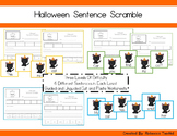 Sight Word Sentence Scramble Cards and Cut and Paste Worksheets: Halloween Editi