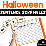 Halloween Sentence Scrambles