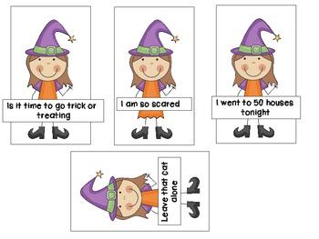Halloween Sentence Sort