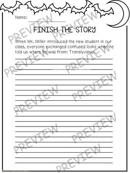 Halloween Sentence Story Starters