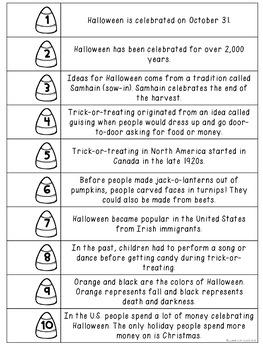 Halloween Sentence Strips