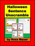 Halloween Sentence Unscramble