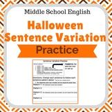 Halloween Sentence Variation Practice