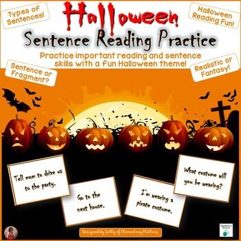 Halloween Sentence Practice