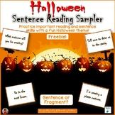 Halloween Sentence Work Freebie