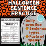 Sentence and Grammar Practice - Halloween