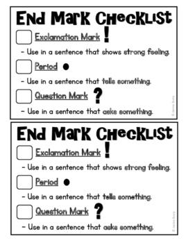 Halloween Spooky Sentences - End Marks Punctuation