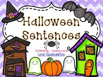 Halloween Sentences  {Pocket Chart Stations}