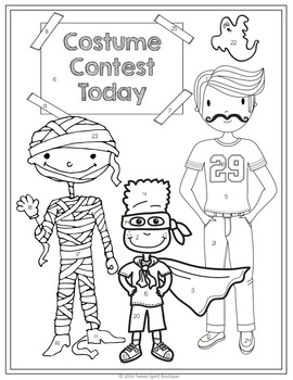 Halloween Grammar Practice: Subjects and Predicates - Color By Code!