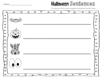 Halloween Sentnces