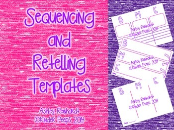 Sequencing and Retelling Templates: Beginning, Middle, End
