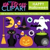 Halloween Set 1 Clip Art (Digital Use Ok!)