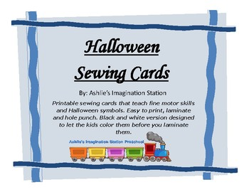 Halloween Sewing Cards