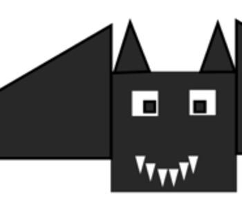 Halloween Math & Geometry - Shaded Region Area Activity (Bat Design) Challenging