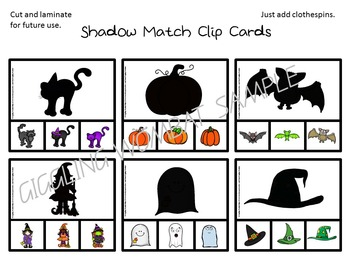 Halloween Shadow Match Card Game