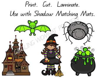Halloween Shadow Match Mats