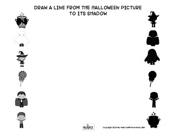Halloween Shadow Matching, Music and Movement Activity