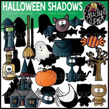 Halloween Shadows Clip Art Set {Educlips Clipart}