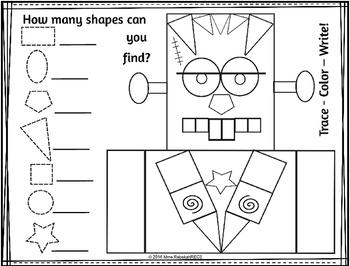 Halloween Shape Activities Printables ENGLISH RESOURCES