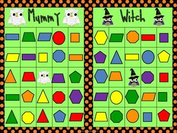 Halloween Shape Bingo