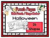 Halloween Shape Hole Punch Cards / Bingo Dauber Coloring Pages