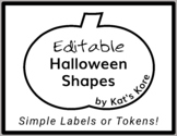 Halloween Shapes – 5 Editable Shapes for Simple Labels or Tokens *FREEBIE!