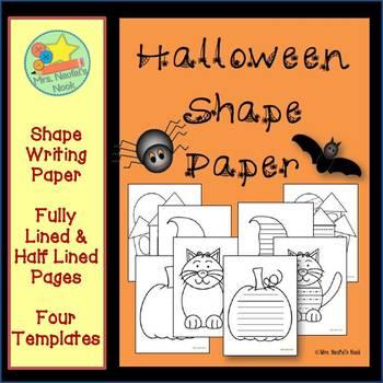 Halloween Shape Paper
