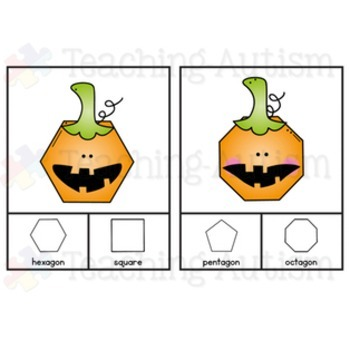 Halloween Activities - Shape Recognition Task Cards