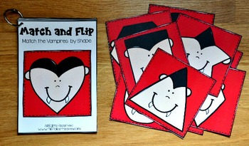 Halloween Shapes Match and Flip Books