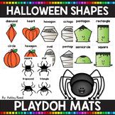 Halloween Shapes Playdoh Mats