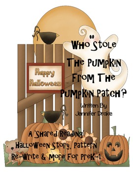 Halloween Shared Reading book, pattern re-write, ind'l book+! Prek-1