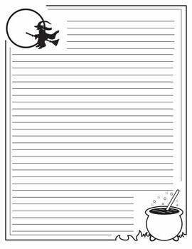 Halloween Short Story Planning Sheets and Writing Paper