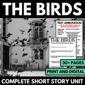The Birds by Daphne Du Maurier Short Story Unit with Questions and Activities