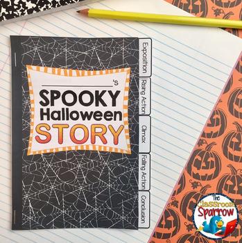 Halloween Short Story Writing INTERACTIVE NOTEBOOK Flip Book