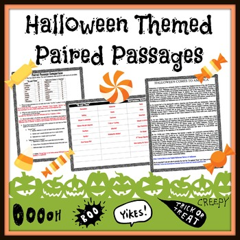 Halloween: Short Story vs. Article Paired Passages