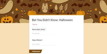 Halloween Short Video Analysis: Google Form
